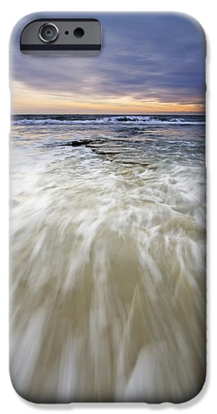 Ocean Sunset iPhone Cases - Rush iPhone Case by Mike  Dawson