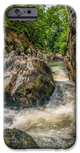 Rapids iPhone Cases - Rushing Waters  iPhone Case by Adrian Evans