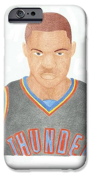 Russell Westbrook  iPhone Case by Toni Jaso