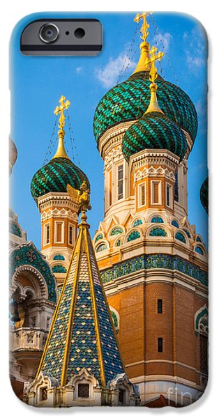 Facade iPhone Cases - Russian Cupolas iPhone Case by Inge Johnsson