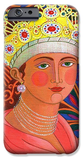 Russian iPhone Cases - Russian Princess iPhone Case by Jane Tattersfield