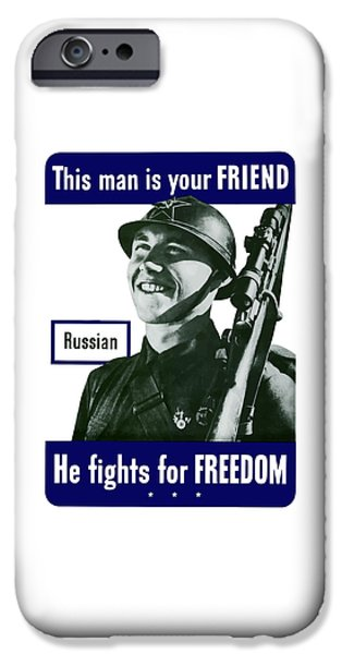 Russian This Man Is Your Friend iPhone Case by War Is Hell Store