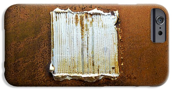 Modern Abstract Reliefs iPhone Cases - Rust Art #6 iPhone Case by Michael Kuelbel