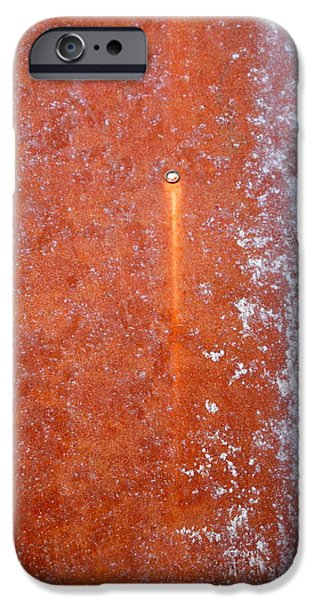 Stainless Steel Paintings iPhone Cases - Rust iPhone Case by Holly Anderson