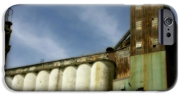 Old Digital Art iPhone Cases - Rusted Building iPhone Case by Gothicolors Donna Snyder