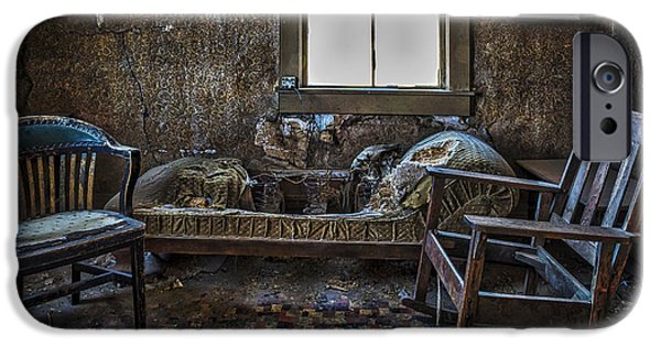 Cabin Window iPhone Cases - Rustic Accommodations iPhone Case by Mitch Shindelbower