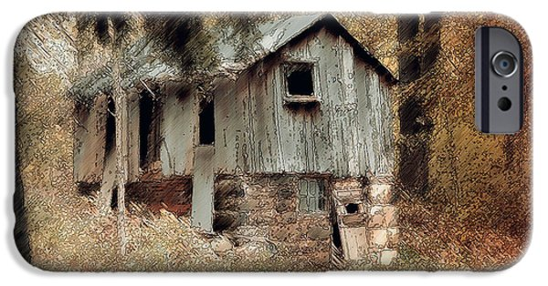 Old Barns iPhone Cases - Rustic Barn iPhone Case by Reese Lewis