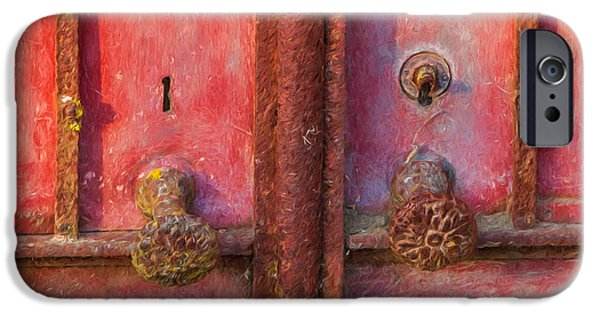 Rust iPhone Cases - Rustic Door of Portugal iPhone Case by David Letts
