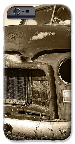 Rusty But Trusty Old GMC Pickup iPhone Case by Gordon Dean II
