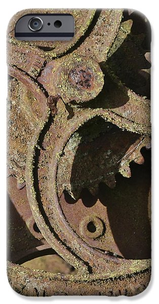 Industry iPhone Cases - Rusty Cogs iPhone Case by Terri  Waters
