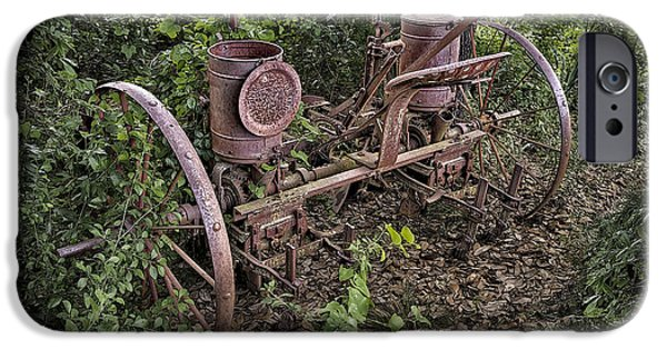 Implement iPhone Cases - Rusty Old Farm Implement iPhone Case by Walt Foegelle