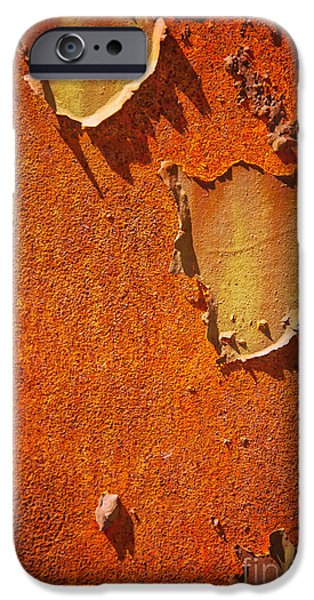 Rust iPhone Cases - Rusty old metal background iPhone Case by Sophie McAulay