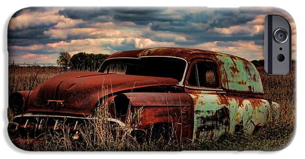 Old Cars iPhone Cases - Rusty Old Ride iPhone Case by Kelley Conkling
