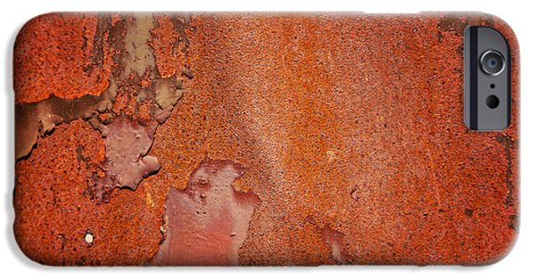 Rust iPhone Cases - Rusty red metal iPhone Case by Sophie McAulay