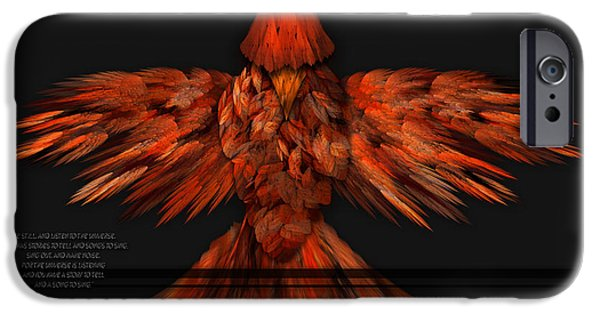 Red Abstract iPhone Cases - Ryfyre iPhone Case by Rybird Music