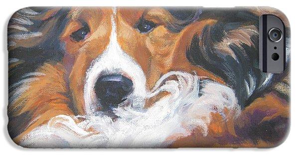 Shetland Sheepdog iPhone Cases - Sable Shetland Sheepdog iPhone Case by Lee Ann Shepard