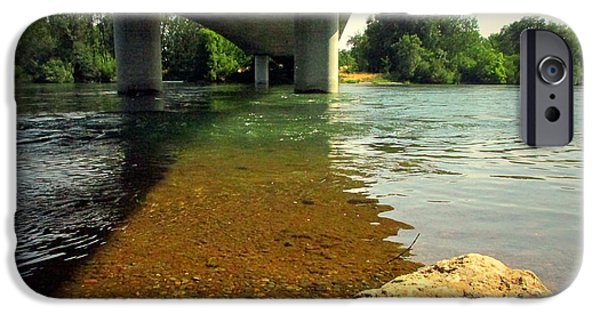 Business Photographs iPhone Cases - Sacramento River At North Street Anderson CA 026 iPhone Case by Joyce Dickens