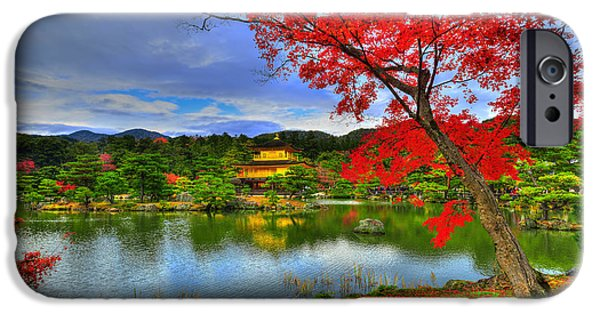 Kyoto iPhone Cases - Sacred Autumn iPhone Case by Midori Chan