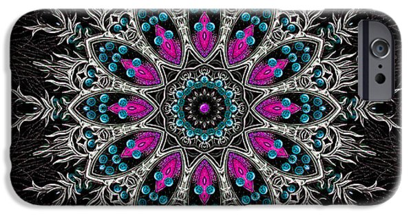 Religious Tapestries - Textiles iPhone Cases - Sacred Flower Mandala iPhone Case by Marcus Mattern