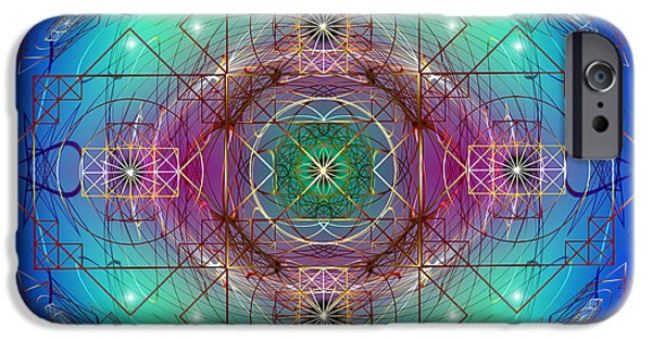 Flower Of Life iPhone Cases - Sacred Geometry 455 iPhone Case by Endre Balogh