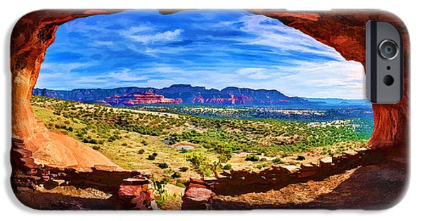 Sedona iPhone Cases - Sacred Ground - Shamans Cave iPhone Case by Bill Caldwell -        ABeautifulSky Photography