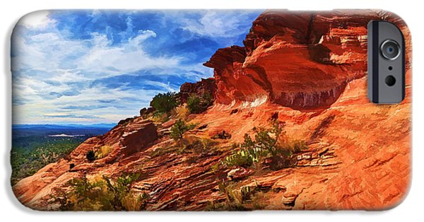 Sedona iPhone Cases - Sacred Ground - Shamans Dome 1 iPhone Case by Bill Caldwell -        ABeautifulSky Photography