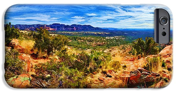Sedona iPhone Cases - Sacred Ground - Shamans Dome View iPhone Case by Bill Caldwell -        ABeautifulSky Photography