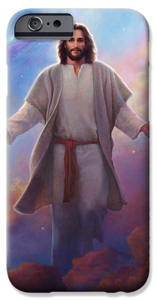 The Universe iPhone Cases - Sacred Space iPhone Case by Greg Olsen