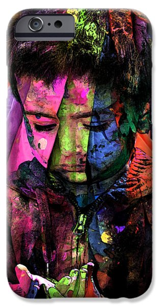 Missing Child Digital iPhone Cases - Sad iPhone Case by Bliss Of Art
