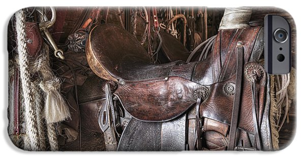 Historic Site iPhone Cases - Saddle And Horseback Riding Equipment iPhone Case by Ken Gillespie