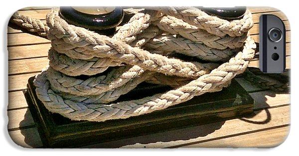 Pirate Ship iPhone Cases - Safe at Port iPhone Case by Kim Derington - Tillman