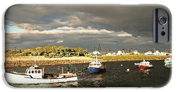 Boat iPhone Cases - Safe Harbor iPhone Case by Betsy Zimmerli