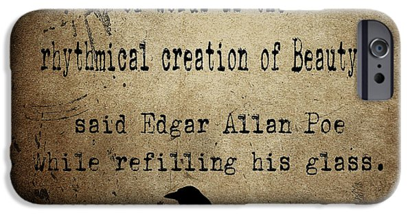 Poet iPhone Cases - Said Edgar Allan Poe iPhone Case by Cinema Photography