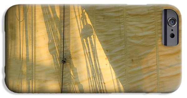 Tall Ship iPhone Cases - Sail And Shadows iPhone Case by Sven Brogren