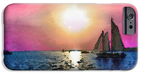 Sailboat Ocean Mixed Media iPhone Cases - Sail Away iPhone Case by Anthony Caruso