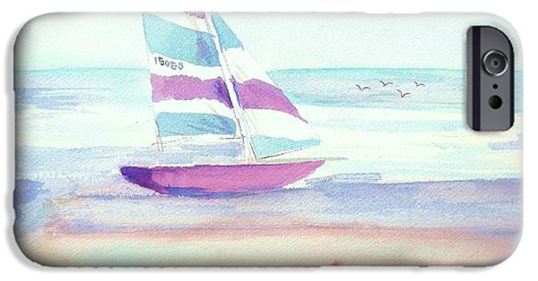 Sand Castles iPhone Cases - Sail Away iPhone Case by Denise Fulmer