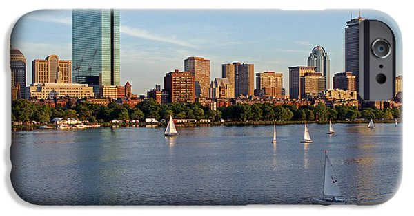 City. Boston iPhone Cases - Sail Boston iPhone Case by Juergen Roth