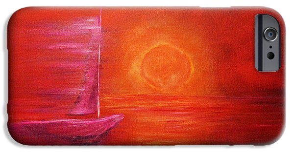 Lighthouse iPhone Cases - Sail in motion iPhone Case by Ken Figurski