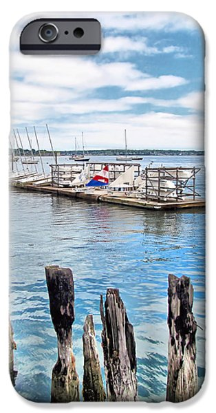 Sailboat Ocean iPhone Cases - Sail Maine Mooring iPhone Case by Elizabeth Dow