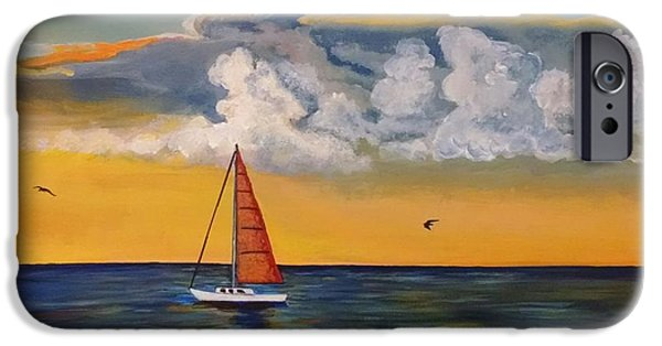Sailboat Ocean iPhone Cases - Sail On iPhone Case by Thomas Breckenridge