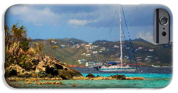 Sailboats iPhone Cases - Sail the Islands iPhone Case by Mary Koenig Godfrey