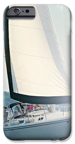 Sailing iPhone Cases - Sail10aa iPhone Case by Diana Angstadt