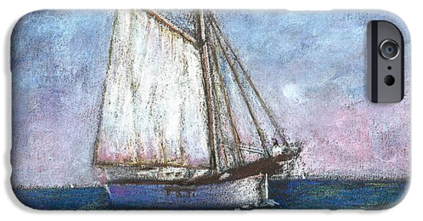 Transportation Pastels iPhone Cases - Sailboat iPhone Case by Arline Wagner