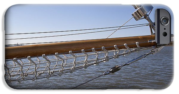 Netting iPhone Cases - Sailboat Bowsprit iPhone Case by Dustin K Ryan