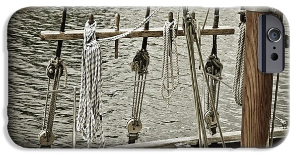 Sailboat Photos iPhone Cases - Sailboat Detail 3954 iPhone Case by Frank Tschakert
