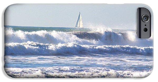 Sailboat Ocean iPhone Cases - Sailboat iPhone Case by Joy  Buckels