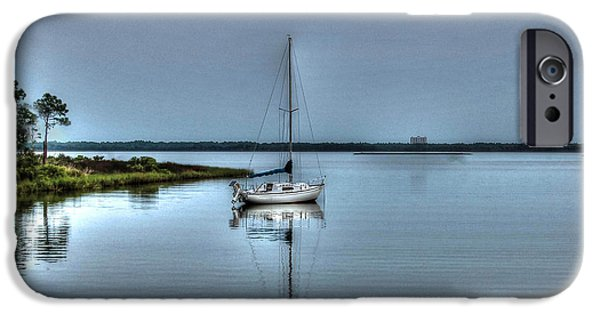 Micdesigns iPhone Cases - Sailboat off Plash iPhone Case by Michael Thomas