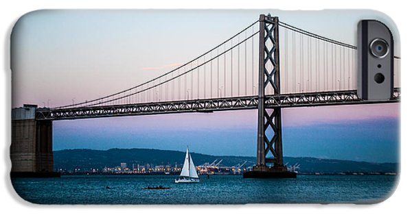 Ocean Sunset iPhone Cases - Sailboat on the Bay at Twilight iPhone Case by Brooks Creative -Photography and Artwork By Anthony Brooks