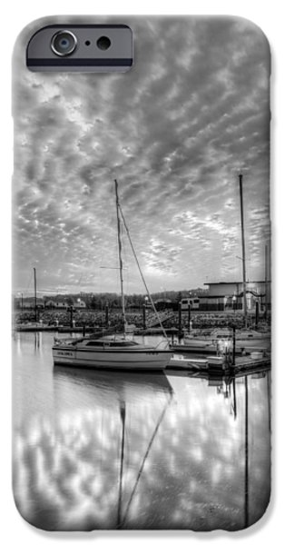 Alexandria iPhone Cases - Sailers Delight Black and White iPhone Case by JC Findley