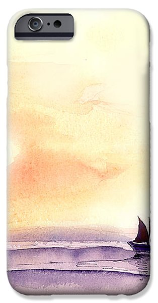 Sailing iPhone Case by Anil Nene